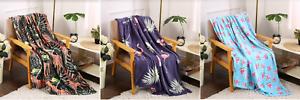 Soft-Plush-All-Season-Elegant-Tropical-Throw-Blanket-50-034-X-60-034-Great-Gift