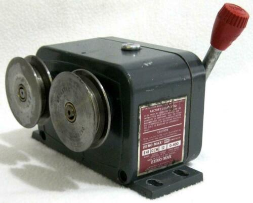 Zero-Max E41 CCW Drive Speed Reducer 0-400 Motion Control Gear Box GOOD TESTED