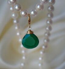 Smaragdgrün Onyx Facettiert Anhänger Emerald Green Onyx faceted Pendant
