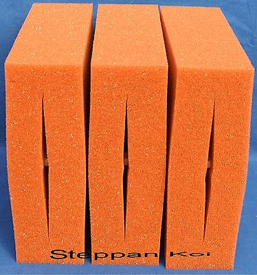 Steppan 6 St/ück Filterschwamm 3 x Blau und 3 x Rot geschlitzt passend f/ür Oase Biotec 10 25 x 25 x 8 cm Blau Grob = PPI 10 Rot Fein = PPI 30 1 Set