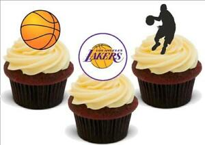 Basketball Los Angeles Lakers Mix stand up Premium Carte Gâteau Toppers