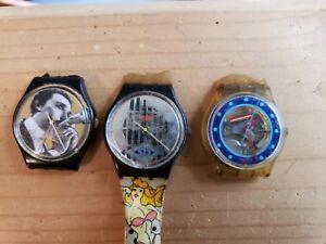 14f397ccc9b2 La foto se está cargando Antiguo-Lote-De-Relojes -Swatch-Swiss-para-reparacion-