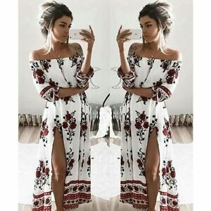 Women-Boho-Floral-Maxi-Long-Dresses-Summer-Evening-Party-Beach-Casual-Sundress