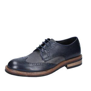 Kleidung & Accessoires Herrenschuhe 2 Piu' Due 44 Eu Elegante Blau Grau Leder Bs751-44 Pflichtbewusst Herren Schuhe