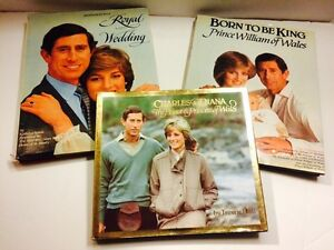 6 Books Lot: Invitation To A Royal Wedding+Charle<wbr/>s &amp; Diana+Born To Be A King