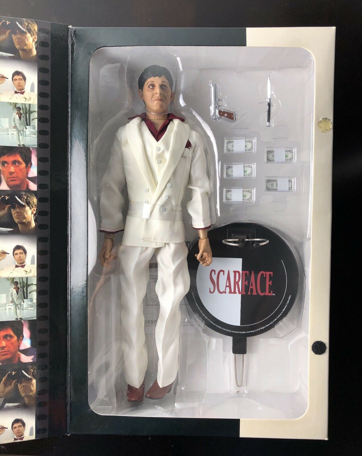 "Al Pacino Scarface 12"" Sideshow Talking Action Figure Rare"
