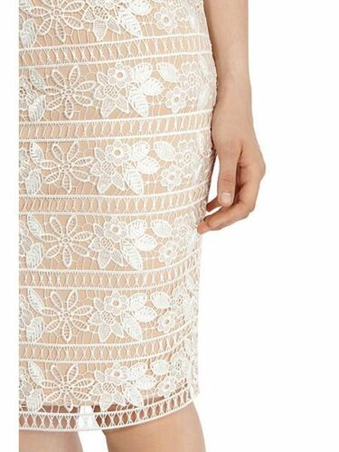 Cerelia Superb Lace Under Geo New Nude Coast Floral Shift Knee Dress 8 Cream Cq5nCfOW4