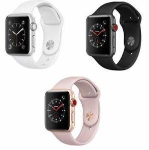 Apple-Watch-serie-3-GPS-cellulaire-en-aluminium-38-42mm-Case-avec-Sport-Band