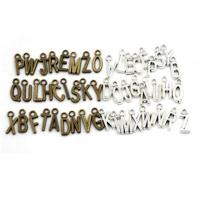 26Pcs Latin English Alphabet Letter Charm Pendant Jewelry Bracelet Diy Craft FO