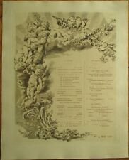 "French Opera/Theatre Program 1906 w/Cherub/Violin Large 11"" x 13.75"", Engraved"