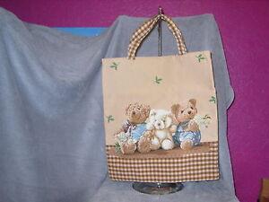 grosser-Gobelin-Beutel-Teddybaerenfamilie-3-er-Teddys-Teddybaeren-TOP-NEU