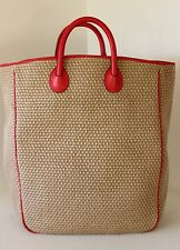 NWT NEW Vintage BOTTEGA VENETA Jute XL BEACH TOTE SHOPPER BAG HANDBAG Italy EC