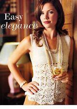 EASY ELEGANCE knitting pattern from magazine - sleeveless top