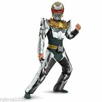 Power Rangers Megaforce Sz 10-12 L Robo Knight Muscle Costume Childs Ranger
