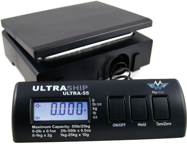 Báscula Digital para Cartas Balanza de Paquete Myweigh Ultrahip55 25kg Negro