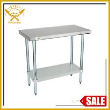 18 X 36 Stainless Steel Work Prep Table Commercial Restaurant Food Undershelf