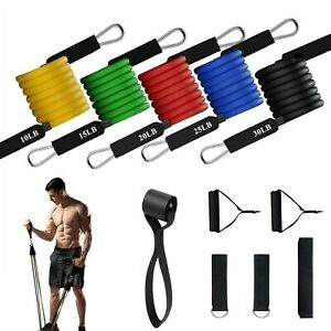 Vikano Fitness Exercise Resistance Bands Set - 5 Tubes Handles Door Anchor