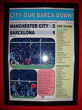 Manchester City 3 Barcelona 1 - 2016 Champions League - framed print