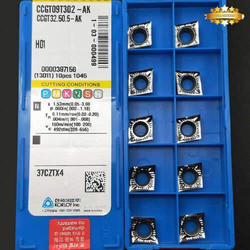 10pcs CCGT09T302-AK CCGT32.50.5-AK H01 insert Aluminum blade CNC for Aluminum