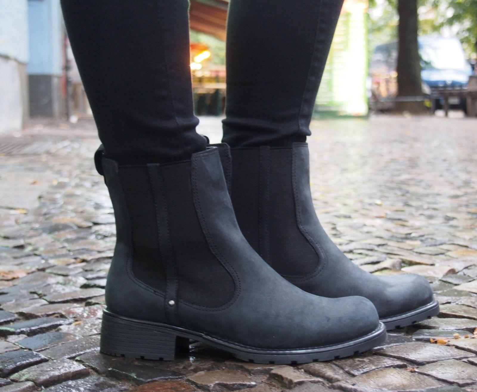 Clarks Originals Schuh ORINOCO HOT schwarz 203569 Damenschuhe Chelsea Boot NP120