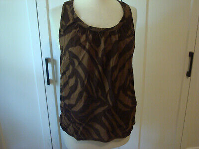 Euc Marc Jacobs Brown Tank Twist Back Shirt Top Blouse Size M Ebay
