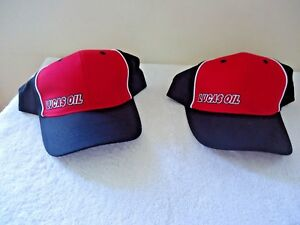 Lot-Of-2-034-NWOT-034-Lucas-Oil-Apparel-Red-Black-Snap-Back-Hats-034-GREAT-CAPS-034