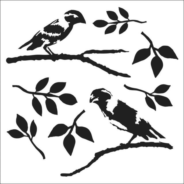 TCW - Stencil 6x6 - Love Birds