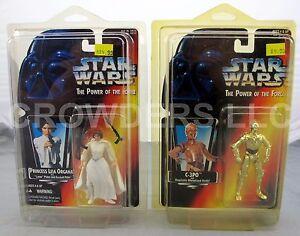 SW PotF Red Card Princess Leia Organa 3 Band Belt & C-3PO 1995 Kenner NiB Rare