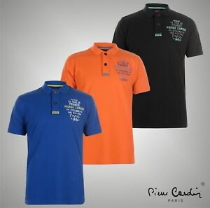 Mens Designer Pierre Cardin Stylish Embroidered Logo Polo Shirt Top