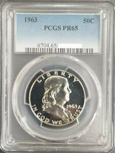 1963-Franklin-Silver-Half-Dollar-PCGS-PR65