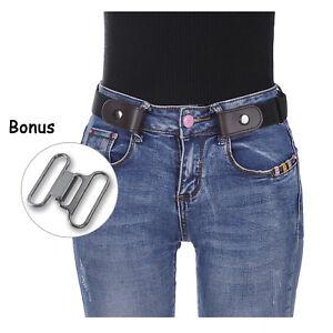 1PC Unisex Women Men No Buckle Invisible Waist Belt No Bulge Elastic Waistband