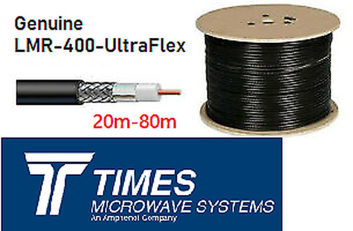 LMR-400-UF UltraFlex Times Microwave 50 Ohm Low Loss coaxial Cable Rad YAGI Ham. Available Now for 282.48