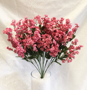 12 babys breath mauve dusty rose gypsophila silk wedding flowers image is loading 12 baby 039 s breath mauve dusty rose mightylinksfo