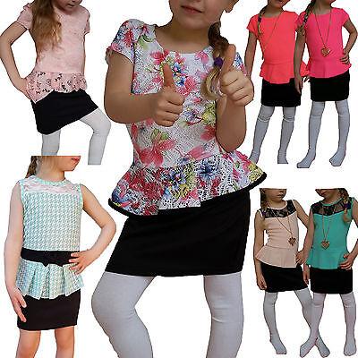 ELLEGANTES GIRL PEPLUM DRESS BABY PARTY DRESS DRESS LACE NEW 86-158