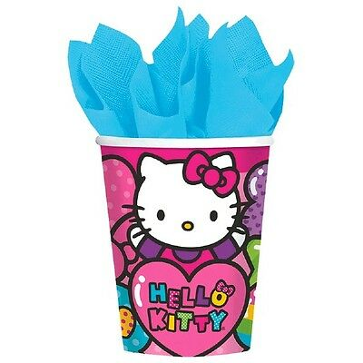 16 Hello Kitty Rainbow Birthday Party Disposable 9oz Paper cups