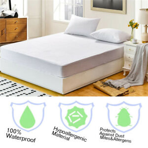 Waterproof-Mattress-Cover-Protector-Terry-Towel-Extra-Deep-Fitted-Sheet-Bed-Pad