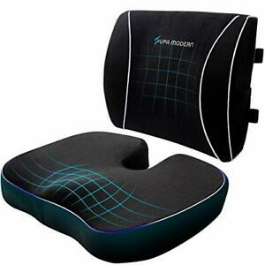 Seat Cushion for Office Chair Gaming Chair Memory Foam Seat Cushion and Lumba...
