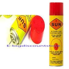 1X Can Sun Butane Gas Super Filtered Refined Lighter Refill Fuel Gas 300 ml