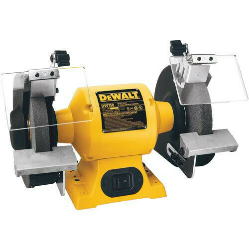 Prime Dewalt Dw758 8 In Wheel 3 4 Hp 3 600 Rpm Bench Grinder Yellow Black New Gmtry Best Dining Table And Chair Ideas Images Gmtryco