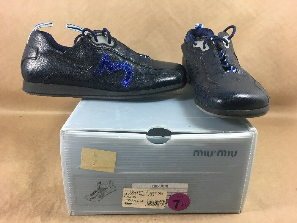 Miu Miu Uomo Blue Fashion  Casual - Shoe - Casual   7.5 - Pre Owned 5287a4
