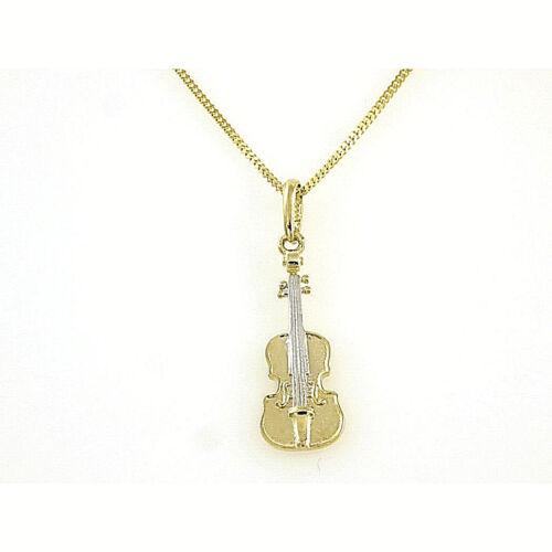 Rockys Violinen Goldkette mit Anhänger  333 Echtgold