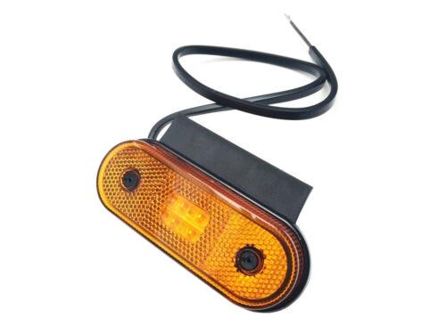 Gelb LED Umrissleuchte Begrenzungsleuchte E9 Anhänger LKW mit Halter und Dreieck