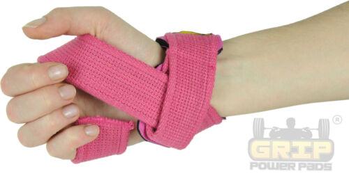 PINK WOMEN Classic Heavy Duty Neoprene Padded Weight Lifting Straps New