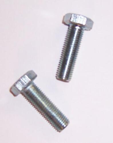 verzinkt M12x1,25x35 2St Sechskantschrauben mit Feingewinde DIN 961//10.9 galv