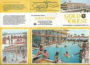 Beautyrest Hotel Mattress Gold-Crest-Resort-Motel-Wildwood-Crest-NJ-Vintage-1980s-Brochure-Color ...