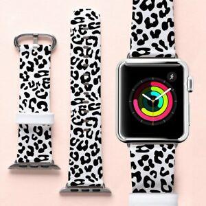 Leopard Print Band For Apple Watch Genuine Leather Iwatch Series 3 4 Bracelet Ebay