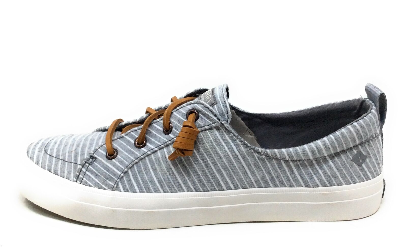 Sperry Top Sider Women's Crest Vibe Shoes Grey White Stripe Size 6 US