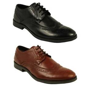 LUCINI-MENS-LEATHER-FORMAL-SHOES-OXFORD-GOODYEAR-WELTED-BOOTS-IN-BLACK-amp-BROWN