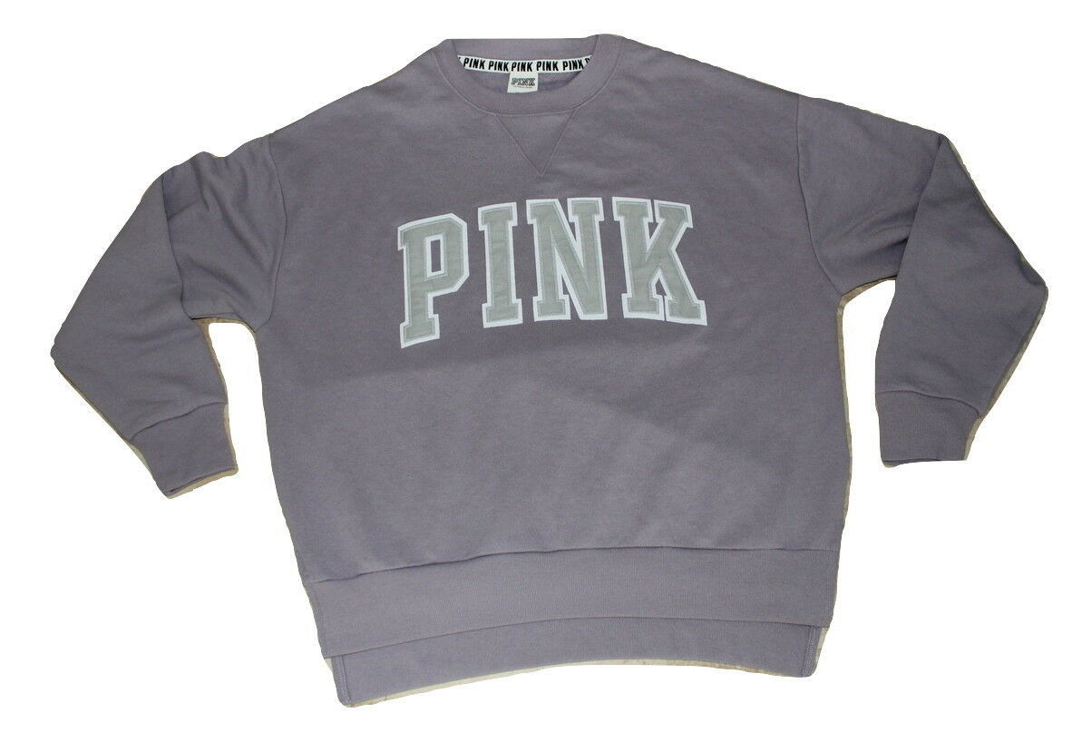 Victoria's Secret Pink Fleece High & & & Low Sweatshirt NWT Small Purple Lavender 31bccd
