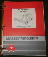 Massey Ferguson Mf 750 Combine Parts Manual Book Catalog